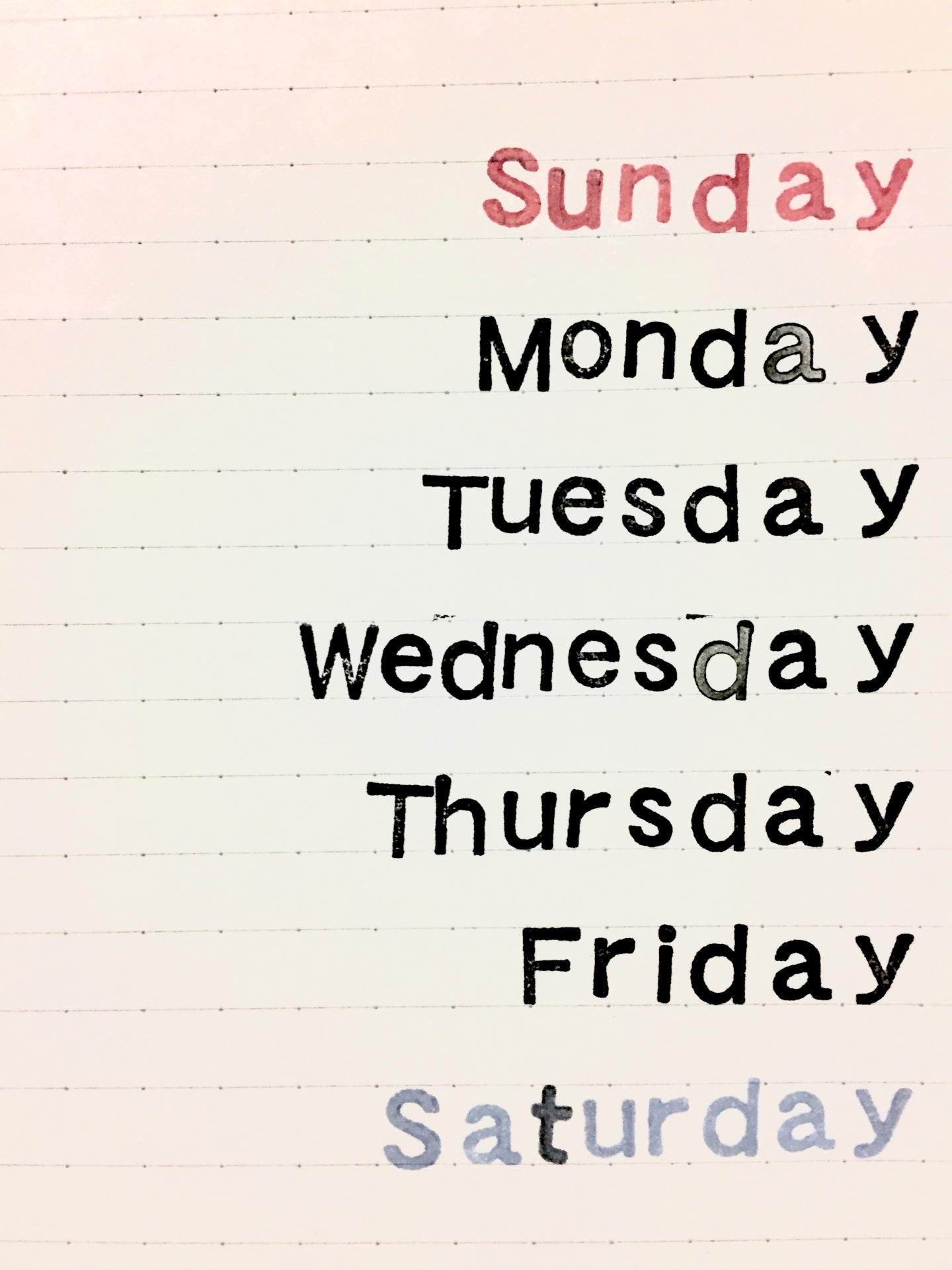 「曜日」を英語で何と言う?読み方・省略表記のまとめ。
